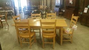 Oak Ladderback Chairs - Set of 6