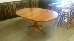 Oval Cherry Hide-away Pedestal Table